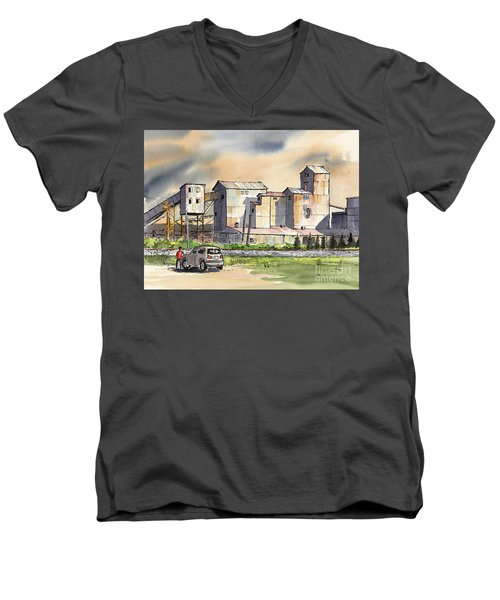 Still In Business Men's V-Neck T-Shirt by Terry Banderas