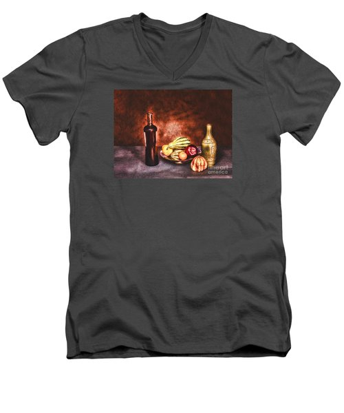Men's V-Neck T-Shirt featuring the photograph Still Life  ... by Chuck Caramella