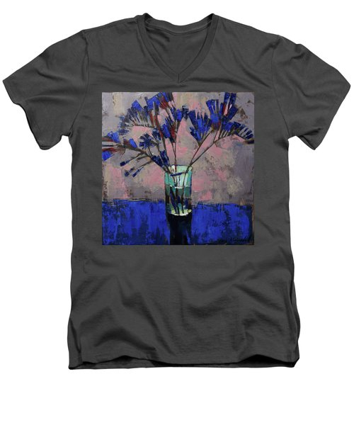 Still Life. Blue Crystal. Men's V-Neck T-Shirt
