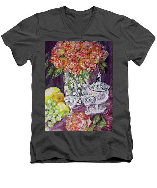 Still Life. Prosperity Men's V-Neck T-Shirt