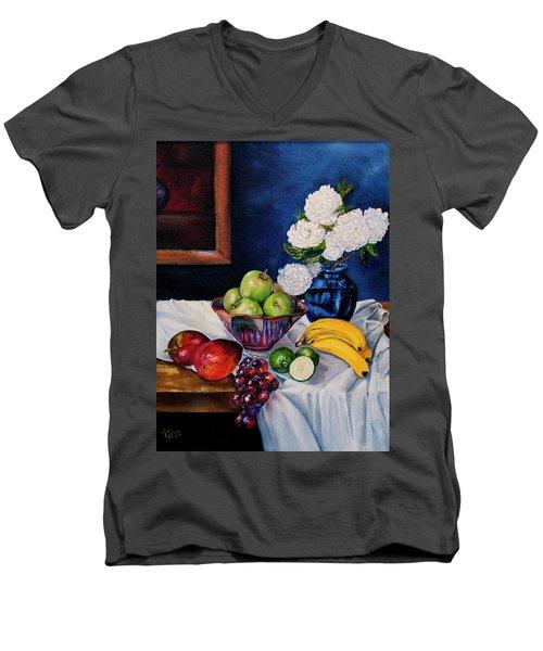 Still Life With Snowballs Men's V-Neck T-Shirt