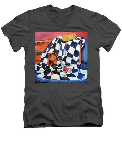 Still Life With Squares Men's V-Neck T-Shirt