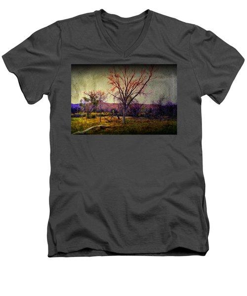 Men's V-Neck T-Shirt featuring the photograph Still by Mark Ross