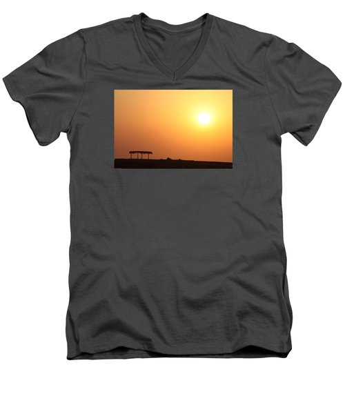 Men's V-Neck T-Shirt featuring the photograph Still Out Of The Shade by Jez C Self