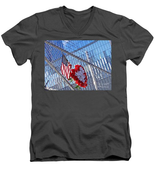 Men's V-Neck T-Shirt featuring the photograph Still Remembered  by Sarah Loft