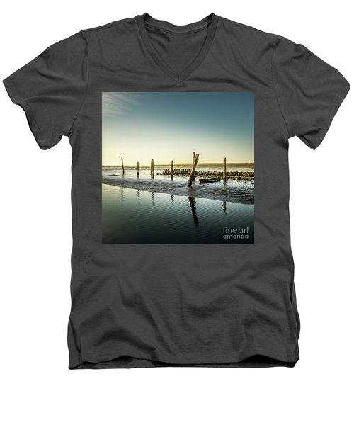 Men's V-Neck T-Shirt featuring the photograph Still Standing by Hannes Cmarits