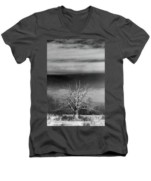 Still Standing Men's V-Neck T-Shirt by Nicki McManus