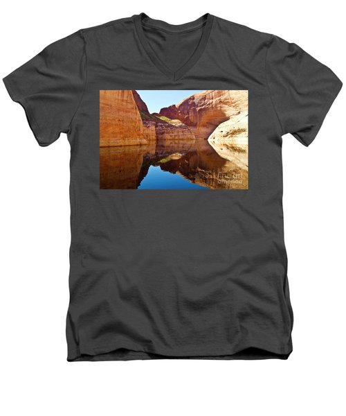 Still Waters Men's V-Neck T-Shirt by Kathy McClure