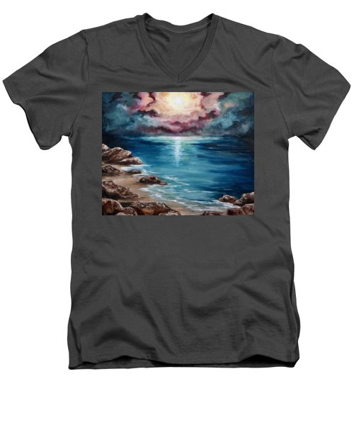 Still Waters Run Deep Men's V-Neck T-Shirt