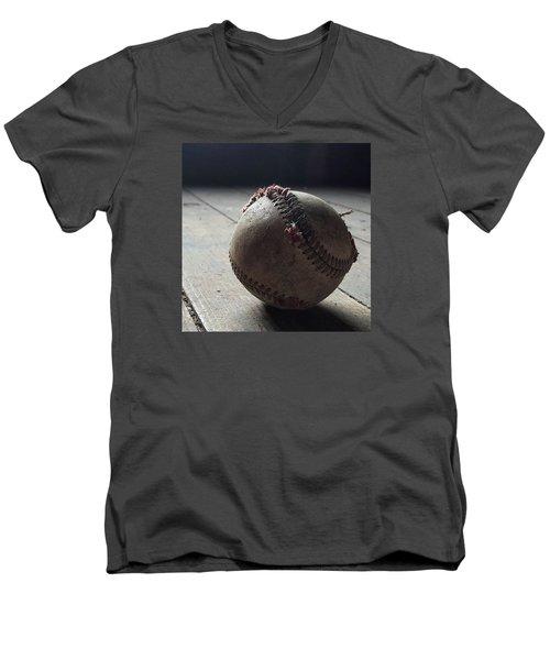Baseball Still Life Men's V-Neck T-Shirt by Andrew Pacheco