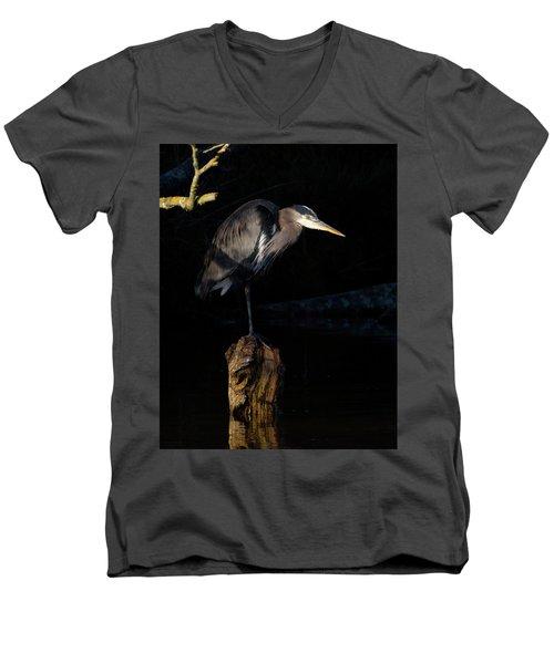 Stillness On The Hunt Men's V-Neck T-Shirt