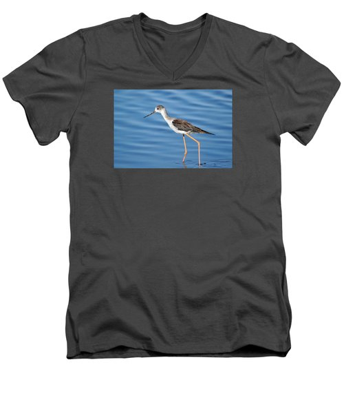 Men's V-Neck T-Shirt featuring the photograph Stilt by Richard Patmore