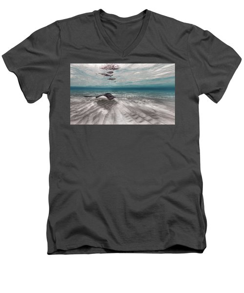 Stingray Across The Sand Men's V-Neck T-Shirt