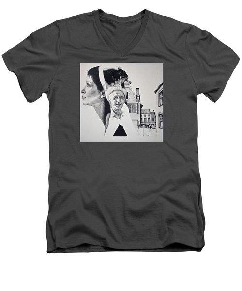 Stipple 2 --over The Hill Men's V-Neck T-Shirt