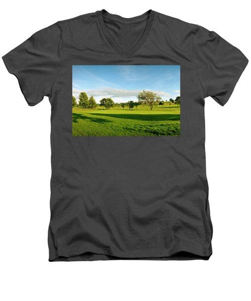 Stirling Golf Club 14th Men's V-Neck T-Shirt by Jan W Faul