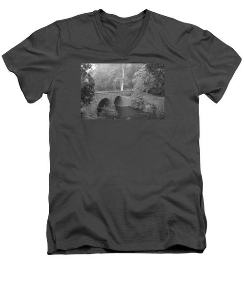 Men's V-Neck T-Shirt featuring the photograph Stone Bridge by Heidi Poulin
