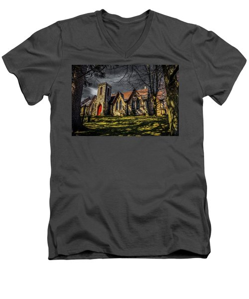 Stone Church Hamilton Men's V-Neck T-Shirt
