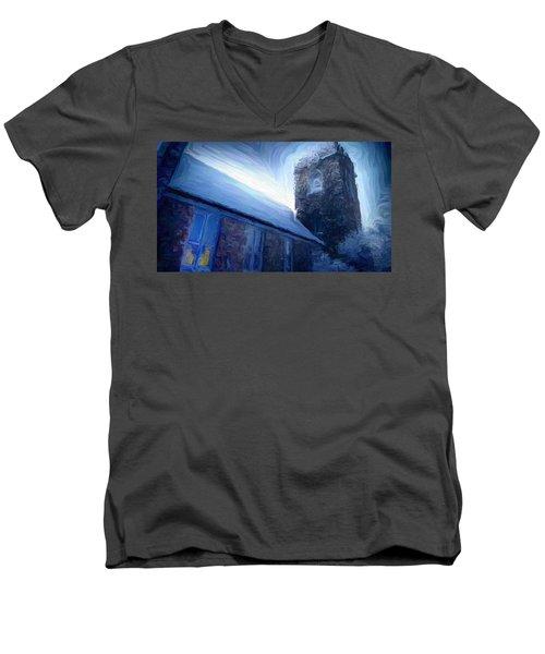 Stone Church Watch Tower Men's V-Neck T-Shirt