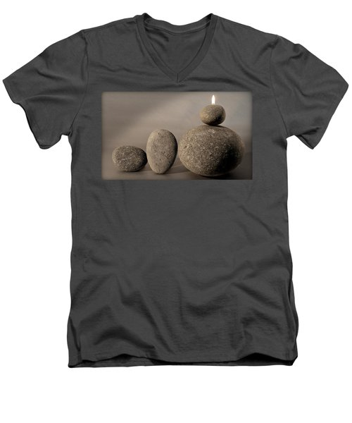 Stone Light Men's V-Neck T-Shirt