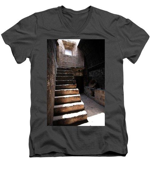 Stone Stairs At Santa Catalina Monastery Men's V-Neck T-Shirt