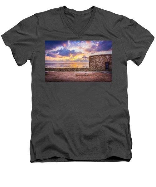 Stone Torre 1. Men's V-Neck T-Shirt