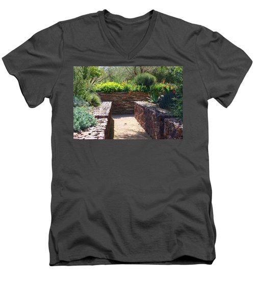 Stone Walkway Men's V-Neck T-Shirt by Kathryn Meyer