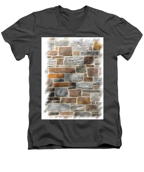 Stone Wall Men's V-Neck T-Shirt