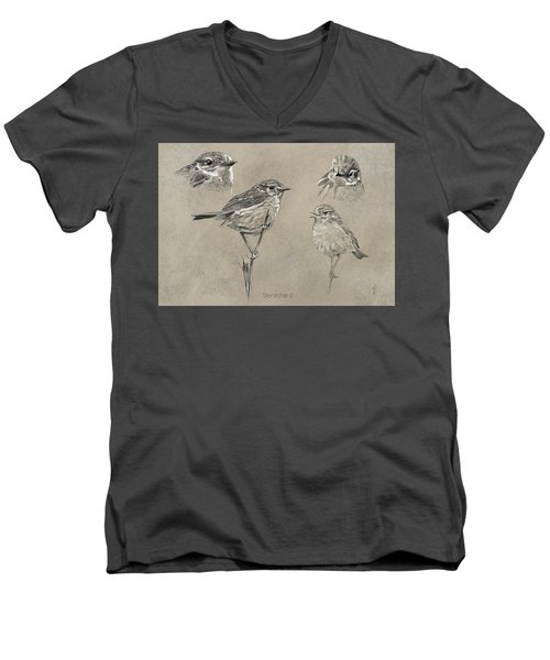 Stonechat Men's V-Neck T-Shirt