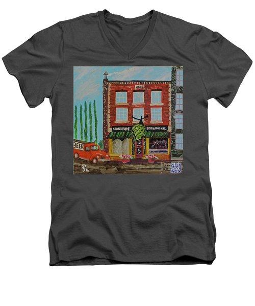 Stoneface Brewing Co. Men's V-Neck T-Shirt
