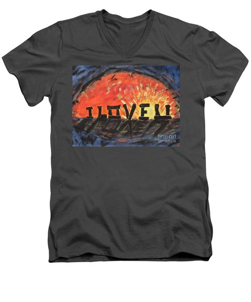 Stonehenge Sunrise Men's V-Neck T-Shirt