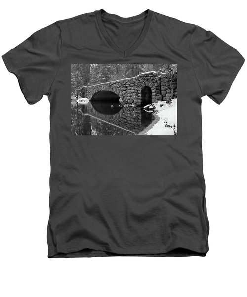 Men's V-Neck T-Shirt featuring the photograph Stoneman Bridge by Vincent Bonafede