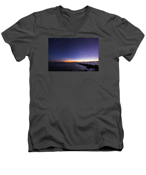 Stonington Skies Men's V-Neck T-Shirt
