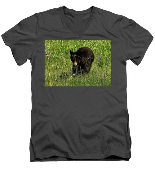 Stopping To Smell The Flowers Men's V-Neck T-Shirt