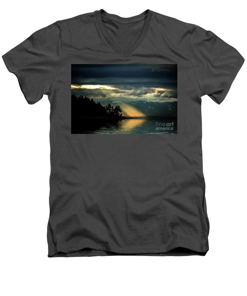 Storm 2 Men's V-Neck T-Shirt by Elaine Hunter