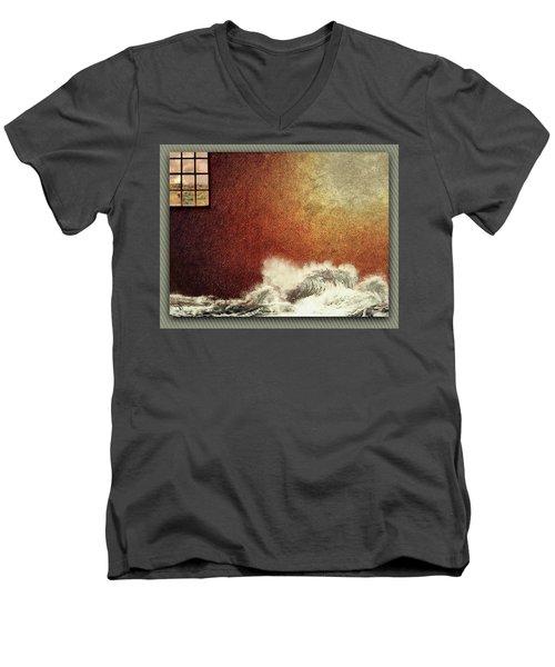 Storm Against The Walls Men's V-Neck T-Shirt