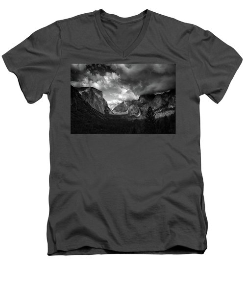 Storm Arrives In The Yosemite Valley Men's V-Neck T-Shirt