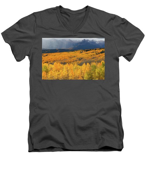 Storm At Ohio Pass During Autumn Men's V-Neck T-Shirt by Jetson Nguyen