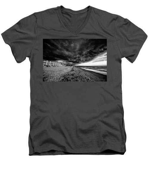 Storm Brewing Men's V-Neck T-Shirt by Kevin Cable