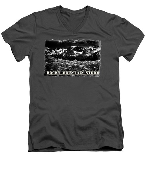 Storm Clouds Gathering In The Rockies Men's V-Neck T-Shirt