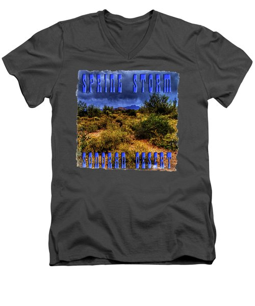 Storm Clouds Over The Sonoran Desert In Spring Men's V-Neck T-Shirt