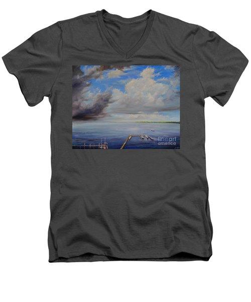 Storm On The Indian River Men's V-Neck T-Shirt