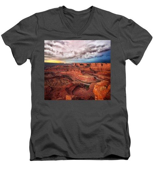 Storm Over Dead Horse Point Men's V-Neck T-Shirt