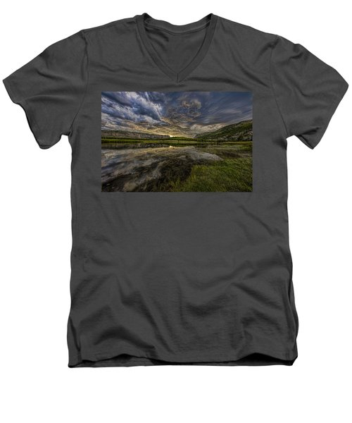 Storm Over Madison River Valley Men's V-Neck T-Shirt