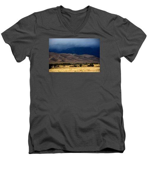 Storm Over The Great Dunes Colorado  Men's V-Neck T-Shirt