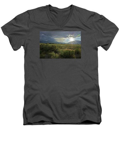 Storm Rays Men's V-Neck T-Shirt by Matt Helm
