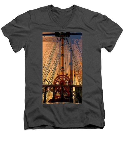 Storm Ship Of Old Men's V-Neck T-Shirt