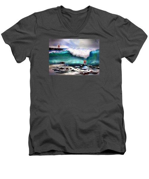 Storm Surf Moment Men's V-Neck T-Shirt