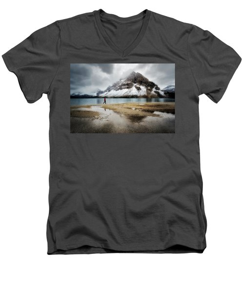 Storm Tracker Men's V-Neck T-Shirt by Nicki Frates