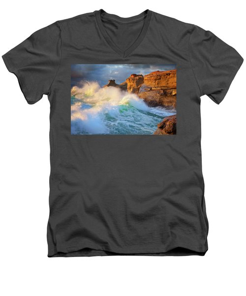 Men's V-Neck T-Shirt featuring the photograph Storm Watchers by Darren White