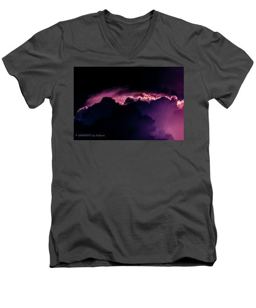 Storms Acomin' Men's V-Neck T-Shirt by Stefanie Silva